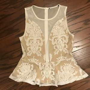 For Love and Lemons lace blouse XS